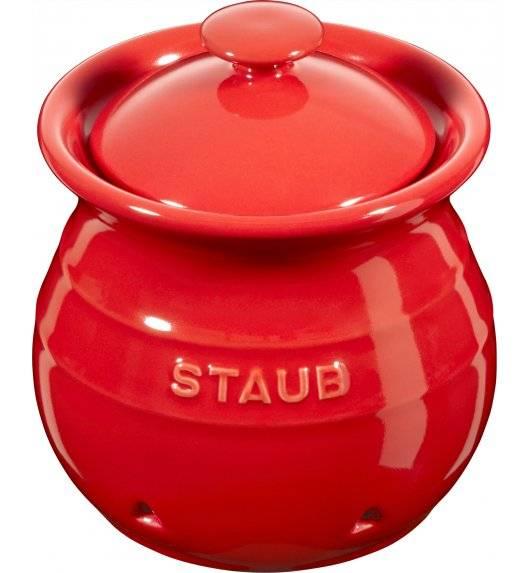STAUB STORAGE Pojemnik do przechowywania czosnku / 500 ml / czerwony / ceramika
