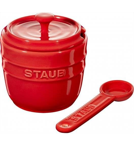 STAUB STORAGE Pojemnik na sól z łyżeczką 9 cm / 250 ml / czerwony / ceramika