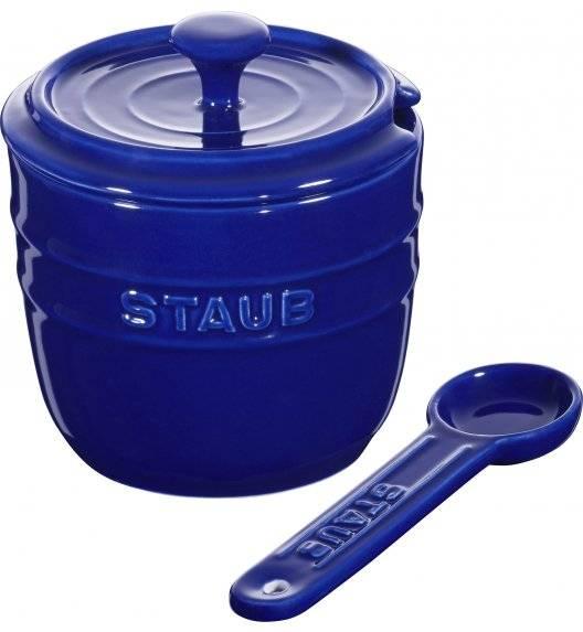 STAUB STORAGE Pojemnik na sól z łyżeczką 9 cm / 250 ml / niebieski / ceramika