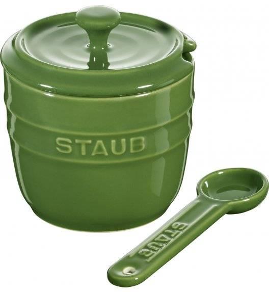STAUB STORAGE Pojemnik na sól z łyżeczką 9 cm / 250 ml / zielony / ceramika
