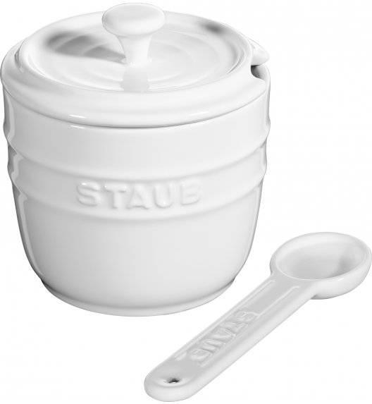 STAUB STORAGE Pojemnik na sól z łyżeczką 9 cm / 250 ml / biały / ceramika