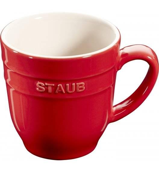 STAUB SERVING Kubek ceramiczny / 350 ml / czerwony / ceramika