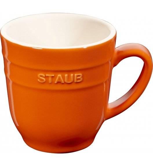 STAUB SERVING Kubek ceramiczny / 350 ml / pomarańczowy / ceramika