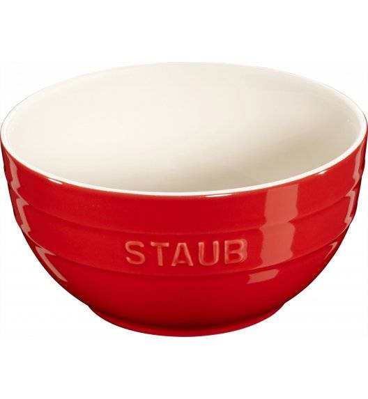 STAUB SERVING Miska okrągła / Ø 17 cm / 1,2 l / czerwony / ceramika
