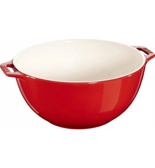 STAUB SERVING Miska z dwoma uchwytami / Ø 25 cm / 3,2 l / czerwony / ceramika