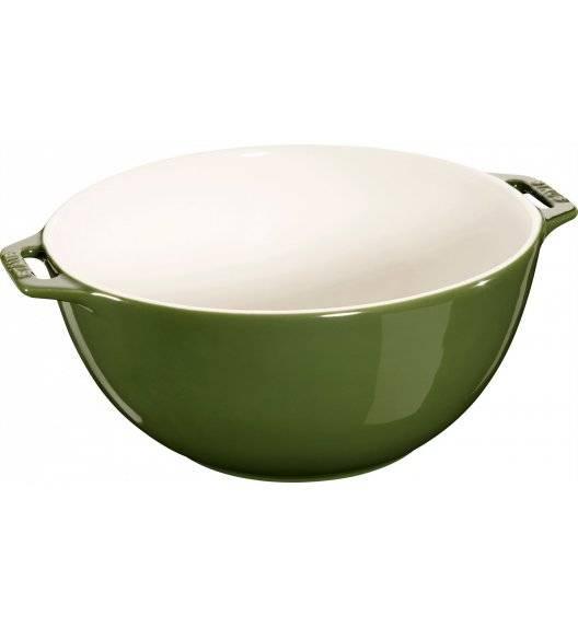 STAUB SERVING Miska z dwoma uchwytami / Ø 25 cm / 3,2 l / zielony / ceramika