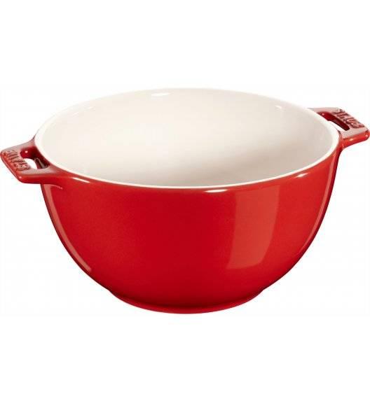STAUB SERVING Miska z dwoma uchwytami / Ø 18 cm / 1,4 l / czerwony / ceramika