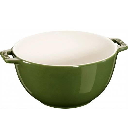 STAUB SERVING Miska z dwoma uchwytami / Ø 18 cm / 1,4 l / zielony / ceramika