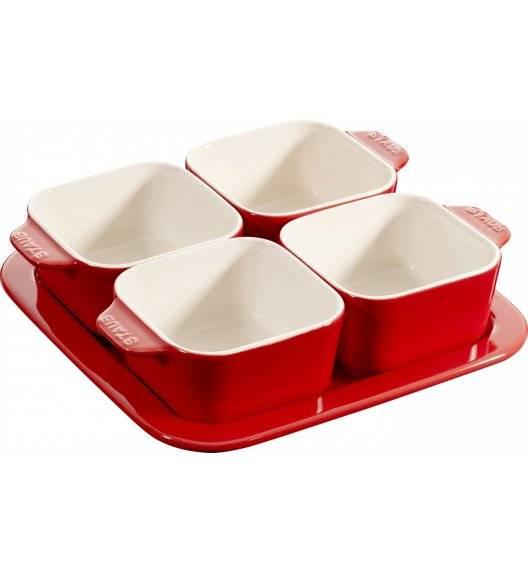 STAUB SERVING Zestaw do przystawek / 5 elementów / 500 ml / czerwony / ceramika