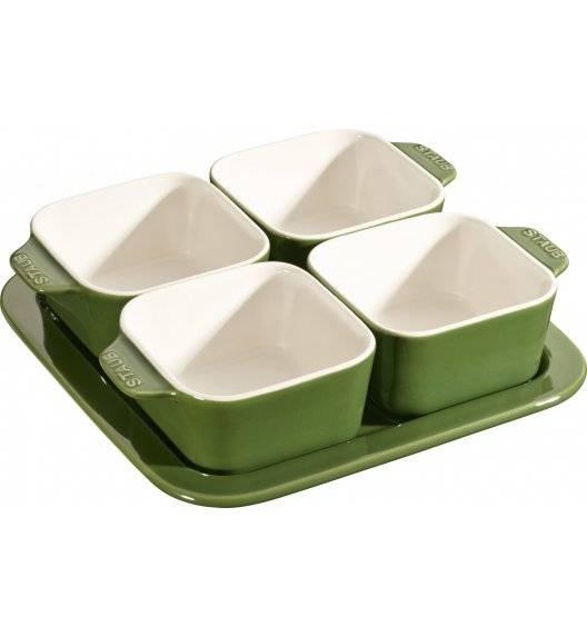 STAUB SERVING Zestaw do przystawek / 5 elementów / 500 ml / zielony / ceramika