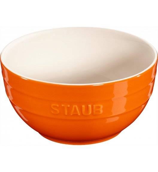 STAUB SERVING Miska okrągła / Ø 17 cm / 1,2 l / pomarańczowy / ceramika