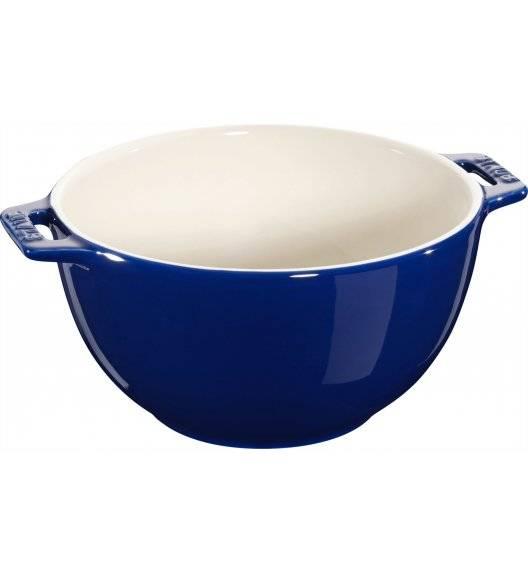 STAUB SERVING Miska z dwoma uchwytami / Ø 18 cm / 1,4 l / niebieski / ceramika