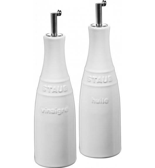 STAUB SERVING Zestaw do oliwy i octu / 2 elementy / 250 ml / biały / ceramika