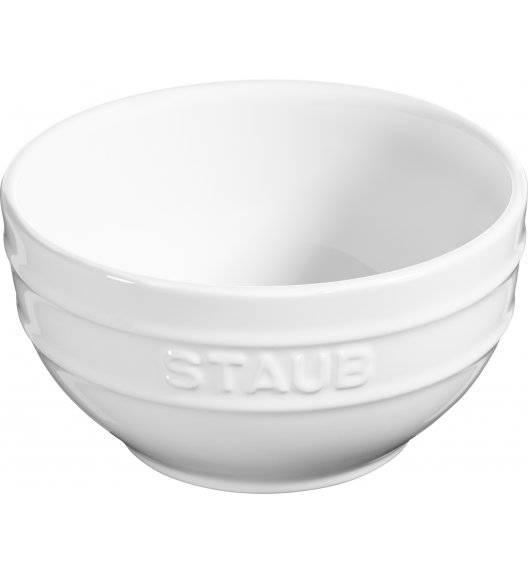 STAUB SERVING Miska okrągła / Ø 14 cm / 0,7 l / biały / ceramika