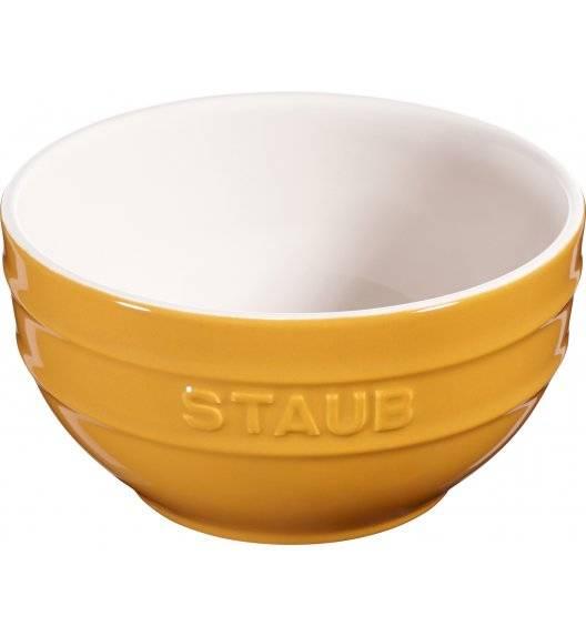 STAUB SERVING Miska okrągła / Ø 14 cm / 0,7 l / musztardowy / ceramika