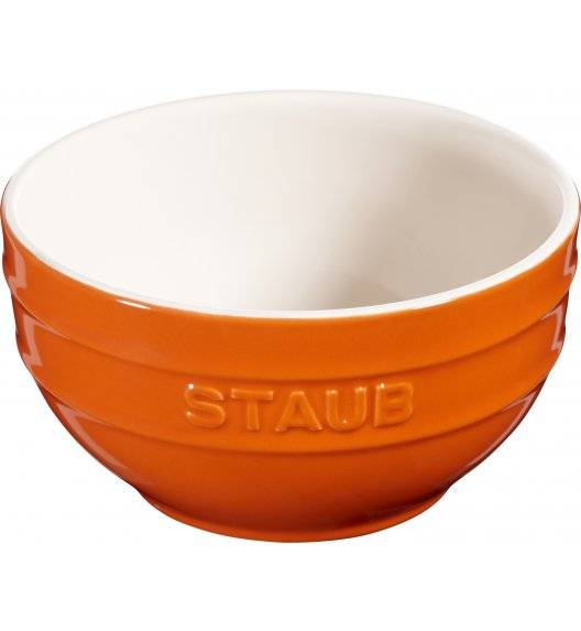 STAUB SERVING Miska okrągła / Ø 14 cm / 0,7 l / pomarańczowy / ceramika