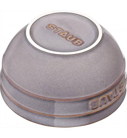 STAUB SERVING Miska okrągła / Ø 12 cm / 0,4 l / antyczny szary / ceramika