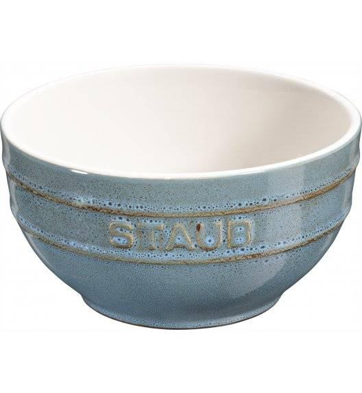 STAUB SERVING Miska okrągła / Ø 14 cm / 0,7 l / antyczny turkusowy / ceramika
