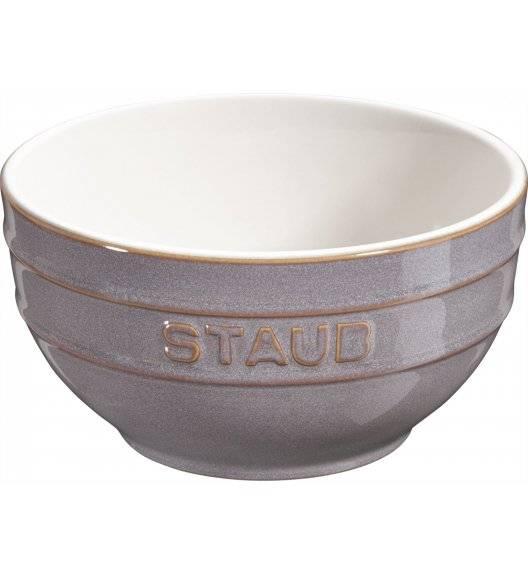 STAUB SERVING Miska okrągła / Ø 17 cm / 1,2 l / antyczny szary / ceramika