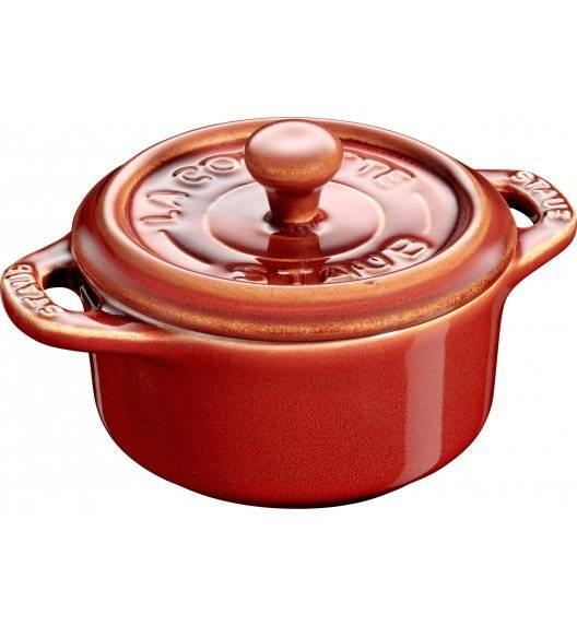 STAUB GIFT GIVING Garnek okrągły do serwowania / 200 ml / kasztanowy / ceramika