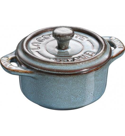 STAUB GIFT GIVING Garnek okrągły do serwowania / 200 ml / antyczny turkusowy / ceramika