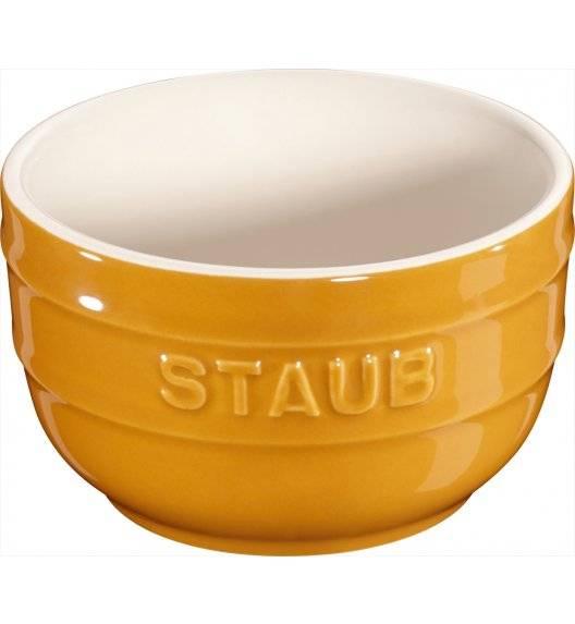 STAUB XS-MINIS Ramekin okrągły / 2 sztuki / 200 ml / musztardowy / ceramika