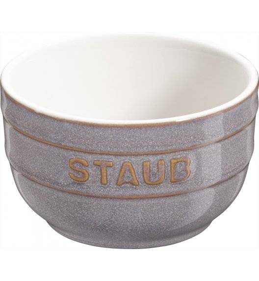 STAUB XS-MINIS Ramekin okrągły / 2 sztuki / 200 ml / antyczny szary / ceramika