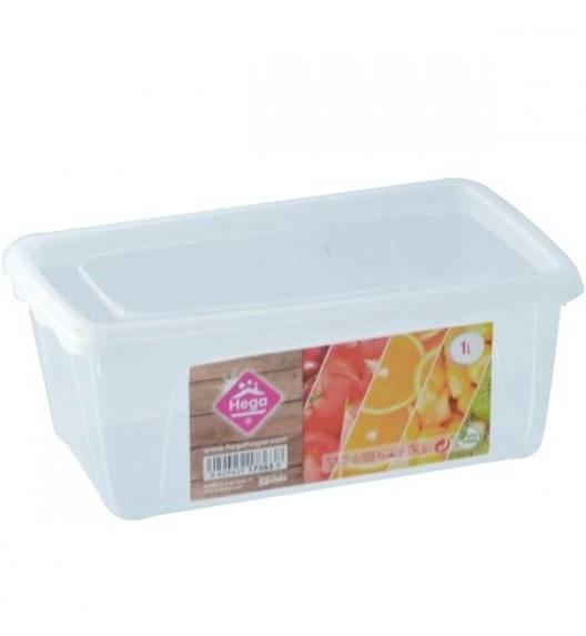 HEGA Lunchbox pojemnik prostokątny / 1 l / 6,5 x 17,7 x 11,7 cm / transparentny /  tworzywo sztuczne