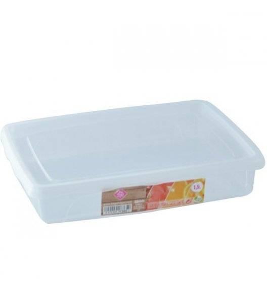 HEGA Lunchbox pojemnik prostokątny / 1,5 l / 4,5 x 24,1 x 19,4 cm / transparentny /  tworzywo sztuczne