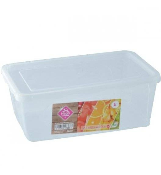 HEGA Lunchbox pojemnik prostokątny / 2 l / 7,7 x 22 x 15,1 cm / transparentny / tworzywo sztuczne