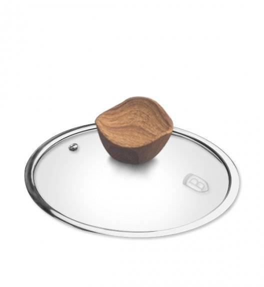 WYPRZEDAŻ! BERLINGER HAUS Szklana pokrywka z uchwytem imitującym drewno 16 cm