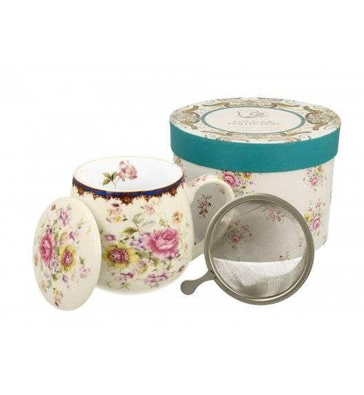 DUO ROMANTIC / Kubek baryłka NICOLE z zaparzaczem / 430 ml / porcelana