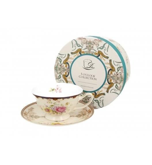 DUO ROMANTIC / Filiżanka ze spodkiem NICOLE / 200 ml / porcelana