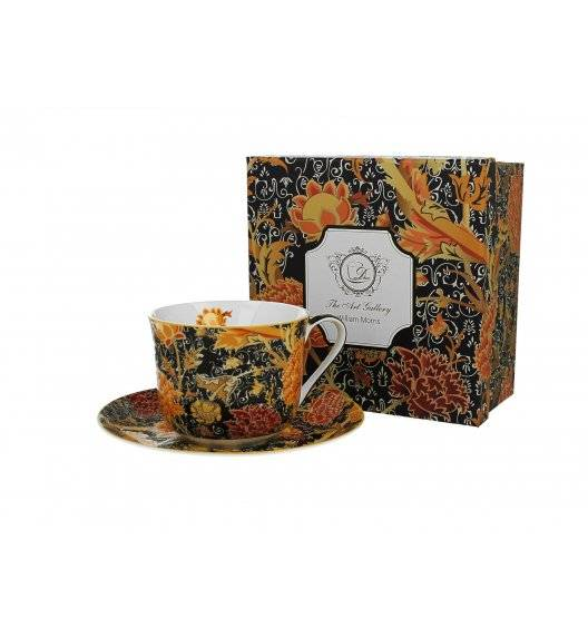 DUO CRAY FLORAL Filiżanka ze spodkiem / 450 ml / porcelana / Art Gallery by William Morris
