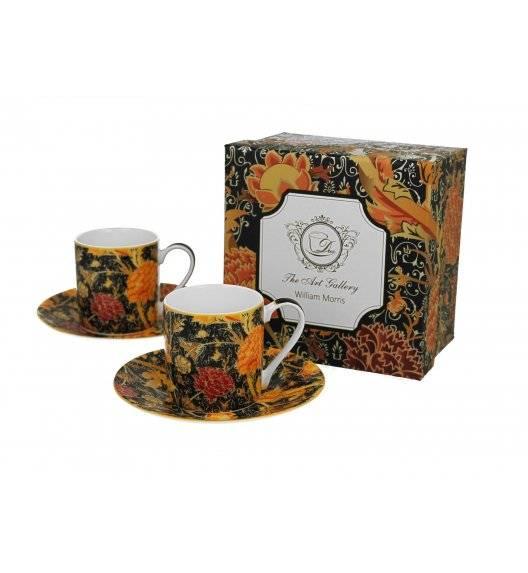 DUO CRAY FLORAL Zestaw 2 filiżanek espresso ze spodkami / 90 ml / porcelana / Art Gallery by William Morris