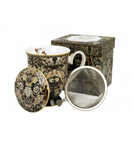 DUO ACANTHUS LEAVES Kubek na stopce z zaparzaczem / 325 ml / porcelana / Art Gallery by William Morris
