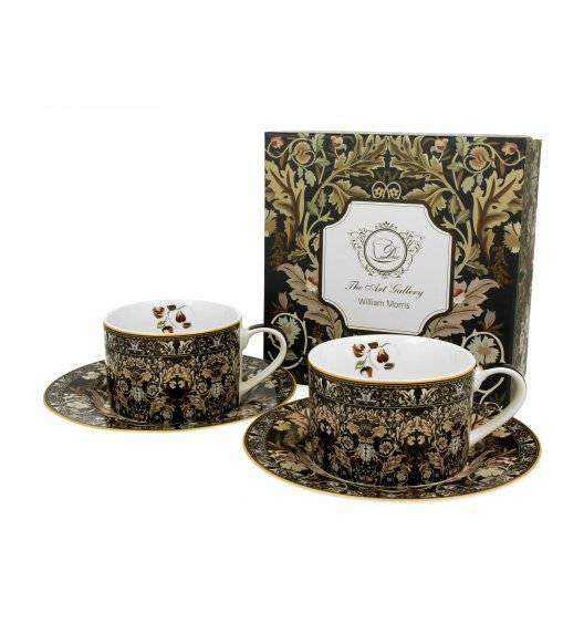 DUO ACANTHUS LEAVES Zestaw filiżanek ze spodami 240 ml / porcelana / Art Gallery by William Morris