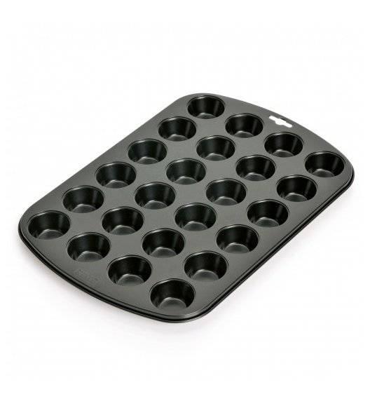 KAISER CREATIV Forma do pieczenia mini muffinek / 24 babeczki / czarna / metal