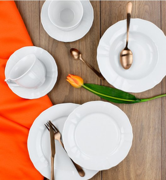 LUBIANA MARIA Serwis obiadowo-kawowy 60 el / 12 osób / porcelana