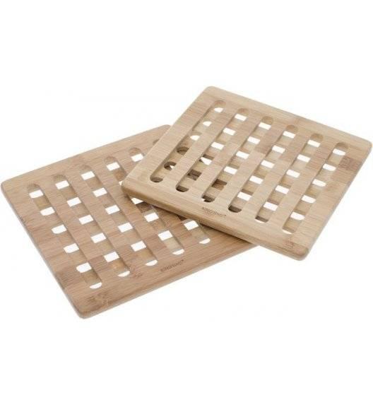 KINGHOFF Podstawka pod naczynia / 2 sztuki / 20 cm / drewno bambusowe
