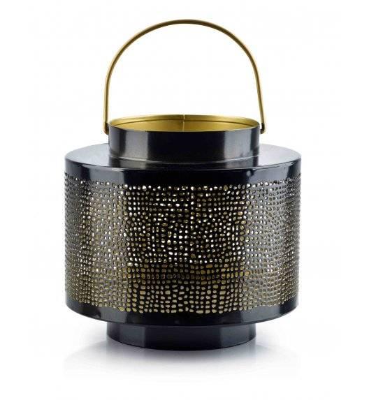 MONDEX LALI Ażurowy lampion na świeczki / 20 x 18 cm / czarny