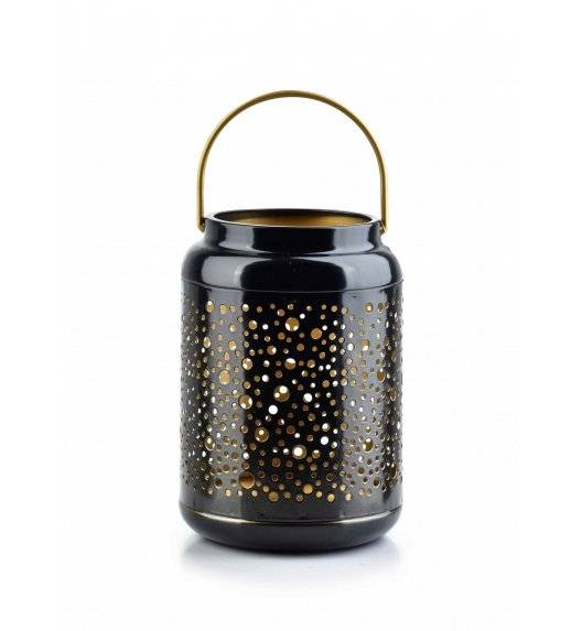 MONDEX LALI Ażurowy lampion na świeczki / 12 x 17 cm / czarny