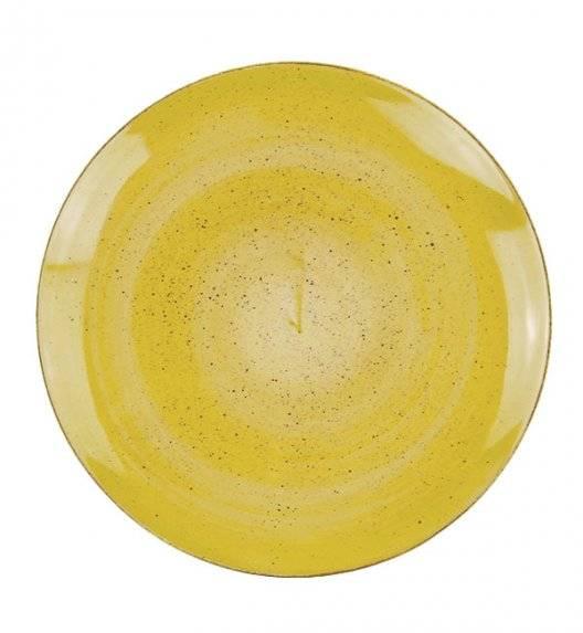 LUBIANA BOSS 6630J Talerz obiadowy 27 cm 12 os / 12 el / żółty / porcelana ręcznie malowana