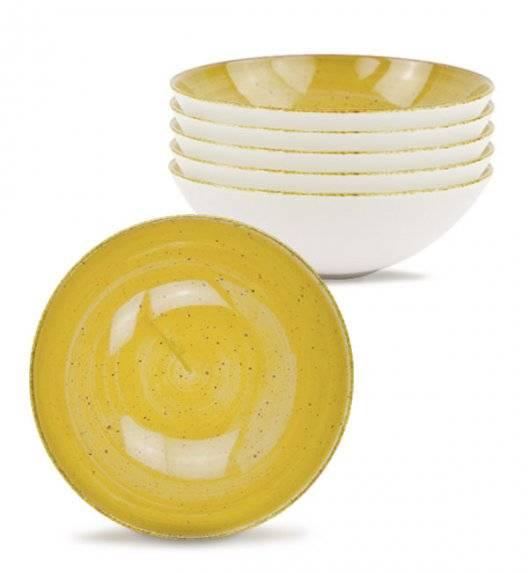 LUBIANA BOSS 6630J Talerz głęboki 18 cm 6 os / 6 el / żółty / porcelana ręcznie malowana