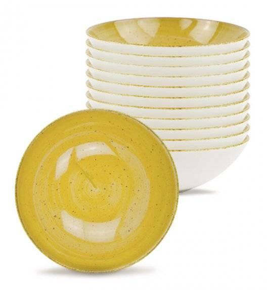 LUBIANA BOSS 6630J Talerz głęboki 18 cm 12 os / 12 el / żółty / porcelana ręcznie malowana