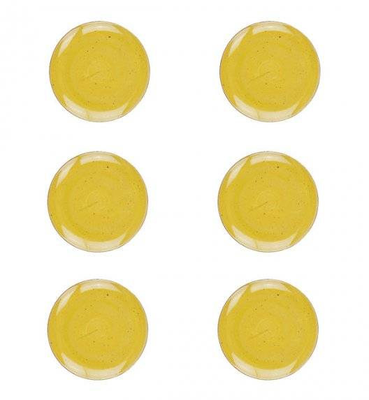 LUBIANA BOSS 6630J Talerz deserowy 20,5 cm 6 os / 6 el / żółty / porcelana ręcznie malowana