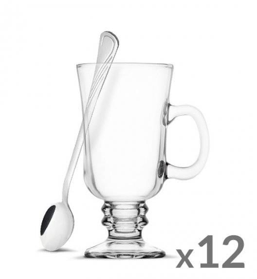 TADAR Komplet 12 szklanek Irish Coffe 240 ml Kawa Latte + 12 łyżeczek koktajlowych Tadar Amazon