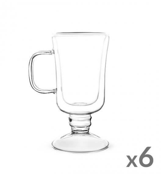 TADAR SUBLIME Komplet 6 szklanek termicznych do latte 200 ml z podwójną ścianką / szkło