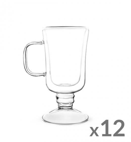 TADAR SUBLIME Komplet 12 szklanek termicznych do latte 200 ml z podwójną ścianką / szkło