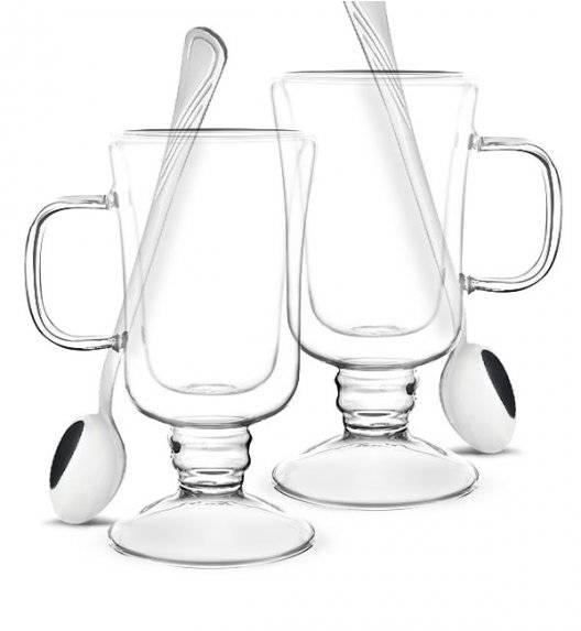 TADAR SUBLIME Komplet 2 szklanek termicznych do latte 200 ml z podwójną ścianką + 2 łyżeczki koktajlowe Tadar Amazon